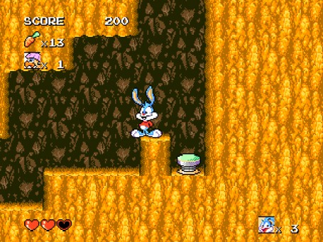 Скачать бесплатно игру Приключения Бас бани Tiny Toon Adventures - Buster's Hidden Treasure, эмулятор сега (Sega Genesis, Mega Drive 2), буква t
