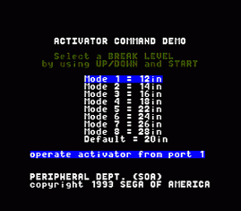 Activator Command Demo 30 Hz